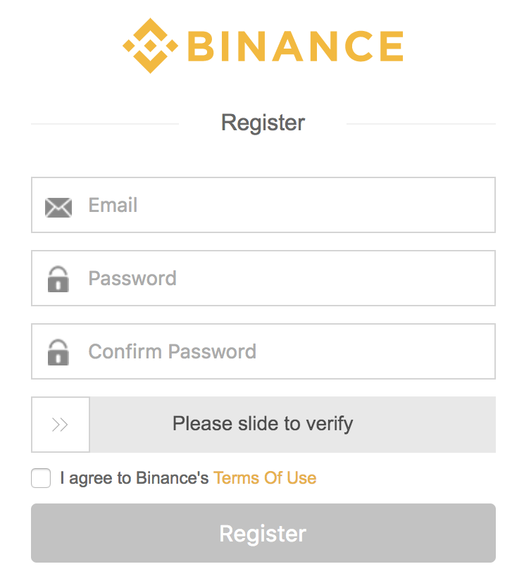 Step 1: How to buy IOTA - Sign up to Binance